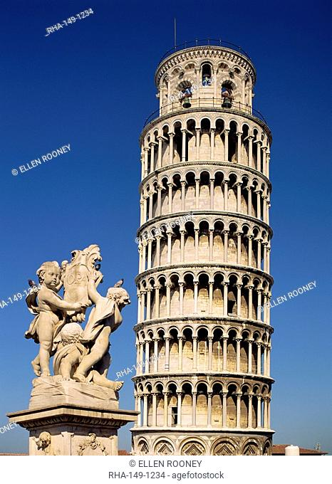 The Leaning Tower of Pisa, Pisa, Tuscany, Italy, Europe
