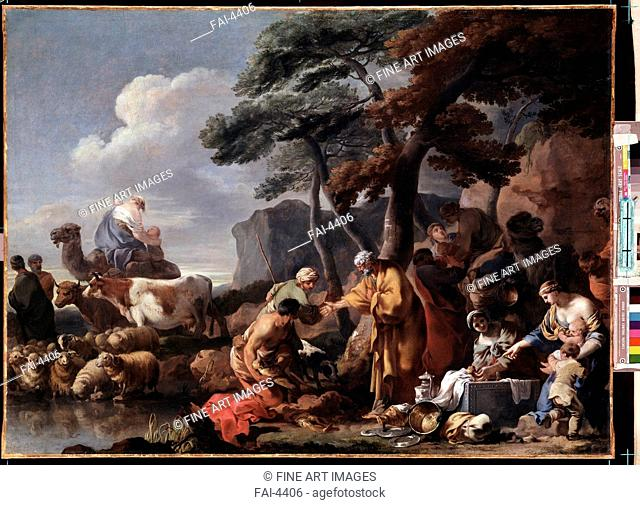 Jacob burying the strange gods under the oak by Shechem. Bourdon, Sébastien (1616-1671). Oil on canvas. Baroque. State Hermitage, St. Petersburg