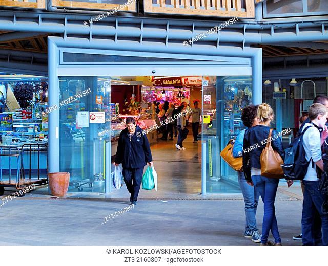 Mercat de Santa Caterina - Fresh Food Market in Barcelona, Catalonia, Spain