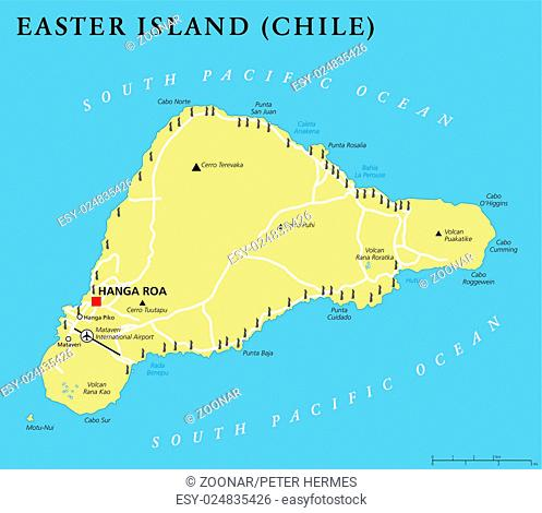 Map Of Easter Island Stock Photos And Images Age Fotostock