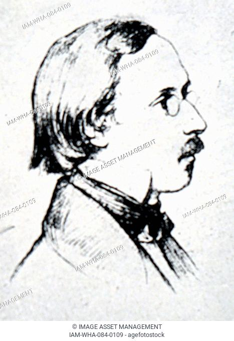 Portrait of Peter Cornelius (1824-1874) a German composer, writer, poet and translator. Dated 19th Century