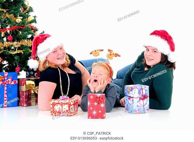 Children around Xmas three