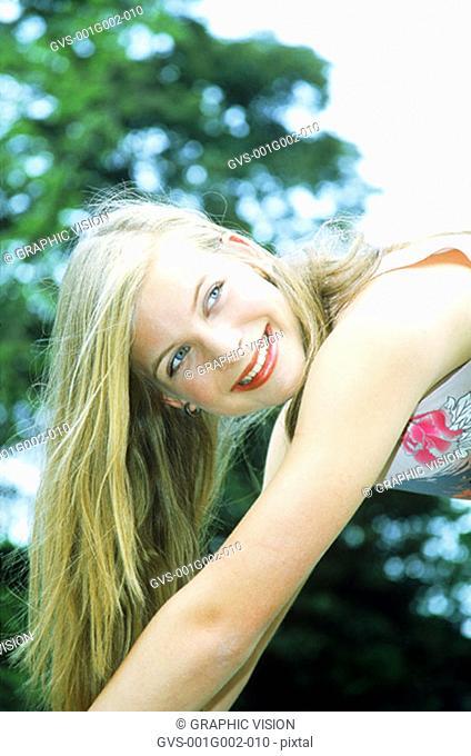Portrait of Teenage Girl in Park