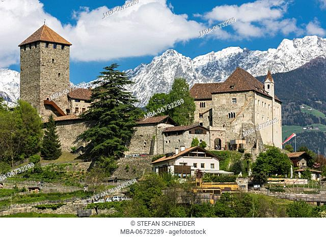 The Tyrol castle in the village Tyrol close Merano in South Tirol