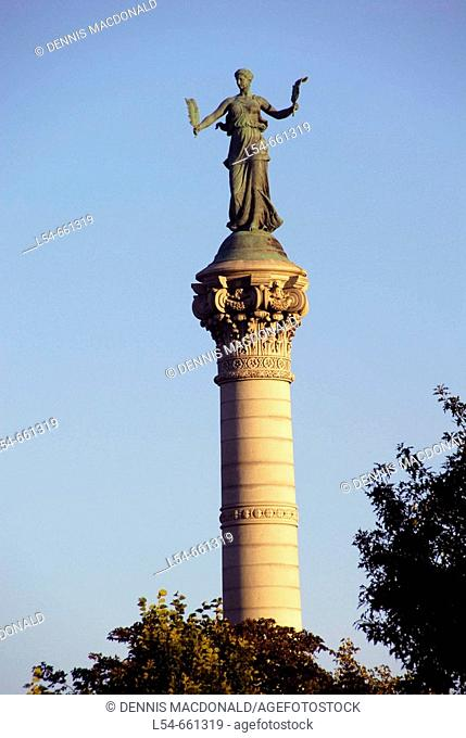 Soldiers and Sailors Monument on the grounds of the State Capitol Building at Des Moines, Iowa, USA