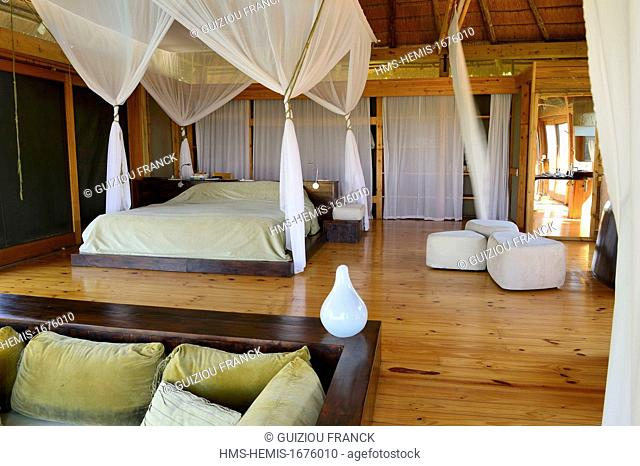 Botswana, Northwest District, Okavango Delta listed as World Heritage by UNESCO, the Vumbura Plains is a luxury camp situated on a private concession on the...