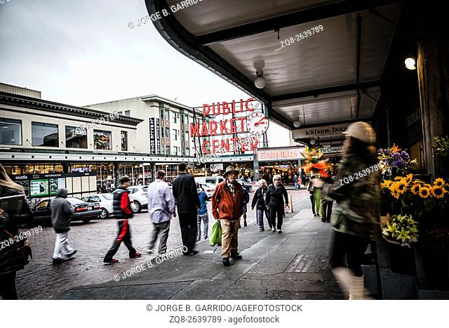 Entrance to the Pike Place Market, in Seattle, Washington State