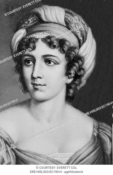Madame de Staël 1766-1817 a versatile writer, but better know as a catalyst for the emergence of Romanticism through her influential Salon