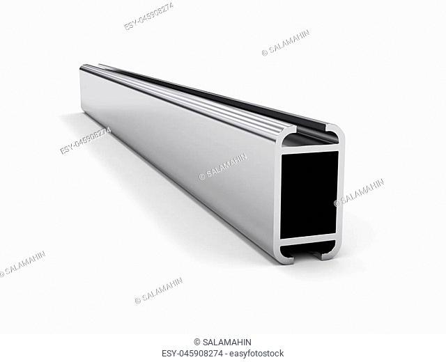 aluminum profile isolated on white background, render