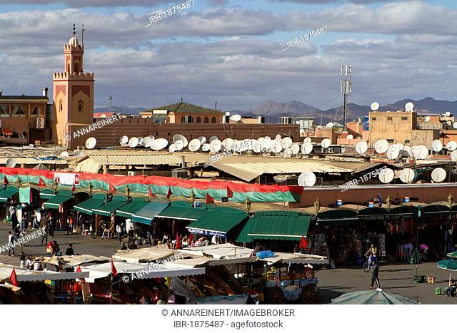 Djemaa el Fna square, Marrakech, Morocco, Africa