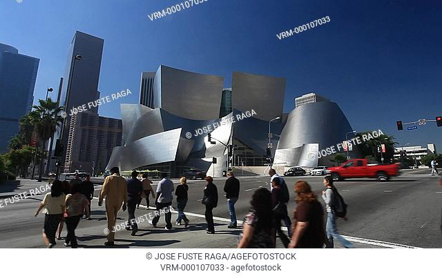 USA -Los Angeles City-Downtown-Walt Disney Concert Hall-Architect F.O. Gehry