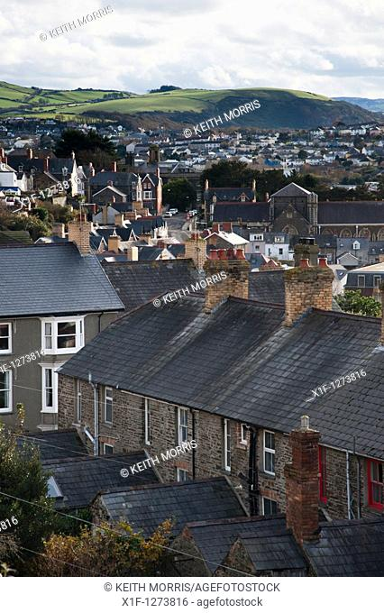 Houses in Aberystwyth Wales UK