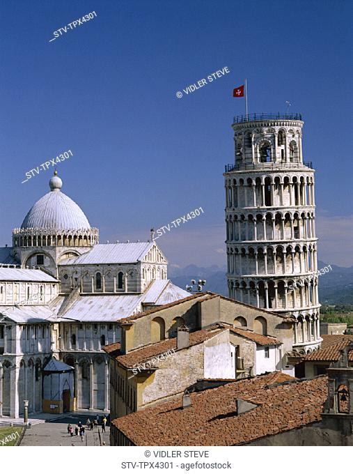 Duomo, Heritage, Holiday, Italy, Europe, Landmark, Leaning tower, Pendente, Pisa, Rooftops, Tiled, Torre, Toscana, Tourism, Trav