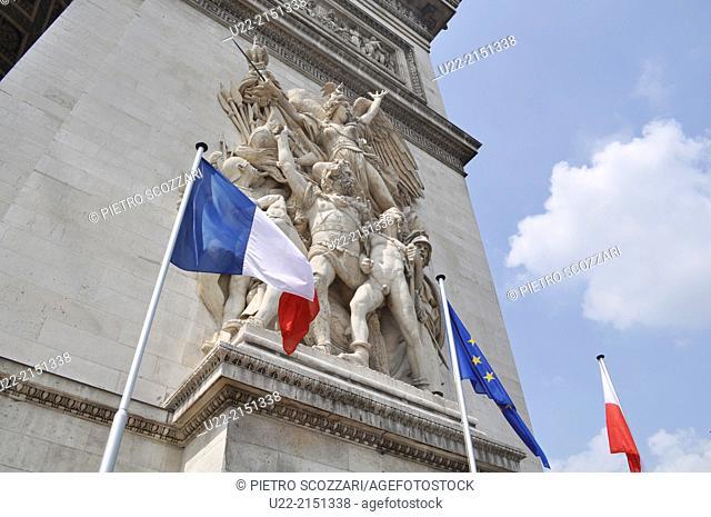 Paris, France, the Triumphal Arch