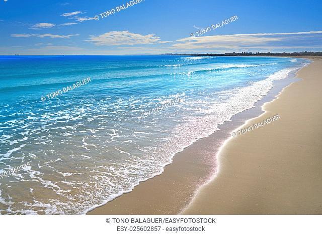 Pinedo beach in Valencia Spain at Mediterranean sea
