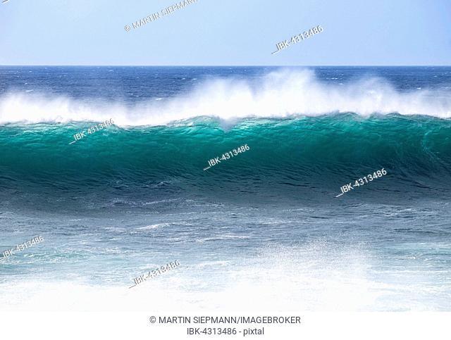 Ocean wave, Atlantic, Valle Gran Rey, La Gomera, Canary Islands, Spain