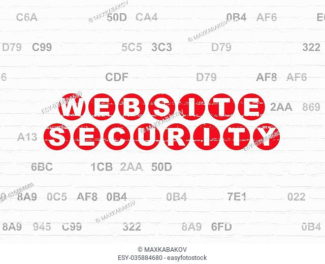 Web design concept: Website Security on wall background