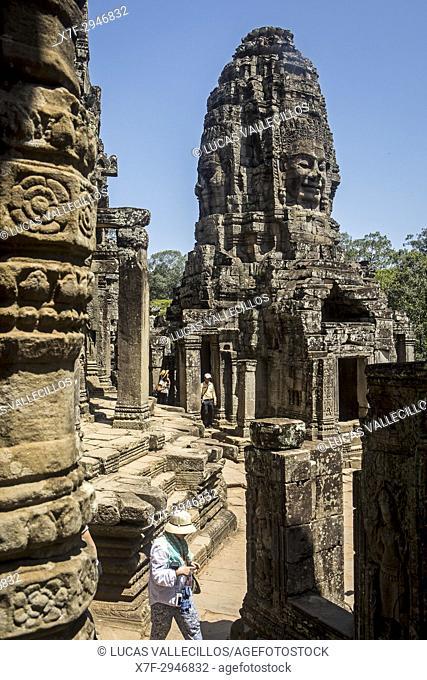 Bayon temple, Angkor Thom, Angkor, Siem Reap, Cambodia