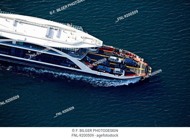 Ferry Konstanz-Meersburg, Lake Constance, Baden-Wuerttemberg, Germany