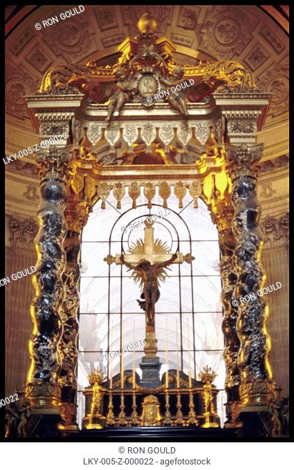 High altar in the church of Hotel des Invalides in Paris