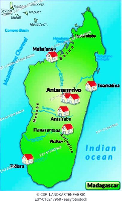 Map of toliara Stock Photos and Images | age fotostock