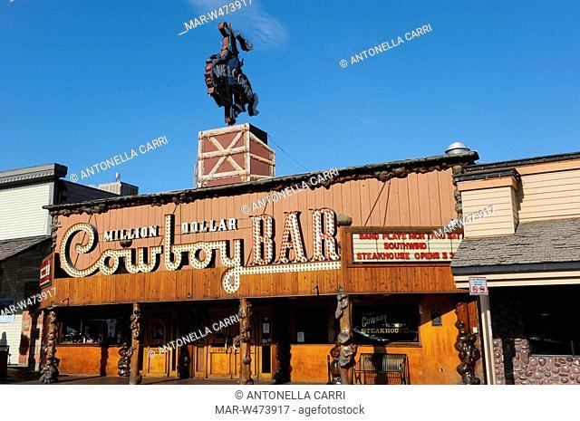 usa, wyoming, jackson hole, the million dollar cow boy bar