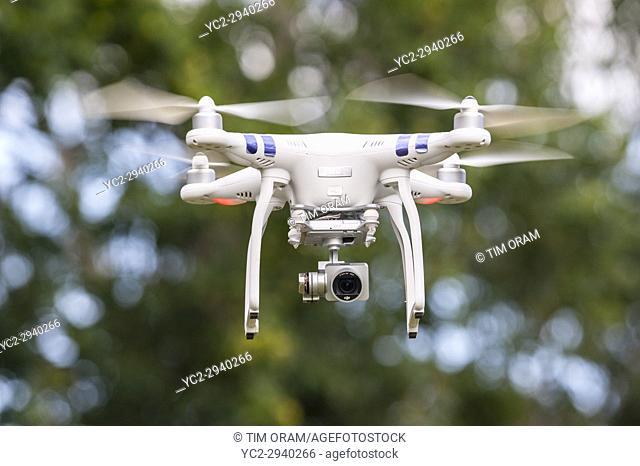 A Phantom drone showing on board camera