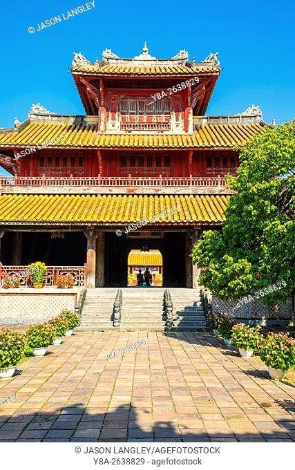 Hien Lam Pavilion in the To Mieu Temple Complex, Imperial City of Hue, Thua Thien-Hue Province, Vietnam