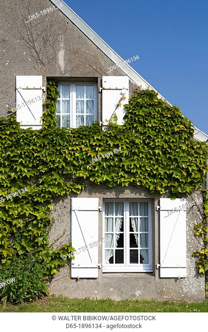 France, Normandy Region, Manche Department, Goury, town building detail