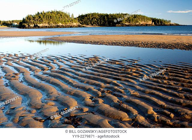 Intertidal Zone at New River Beach Provincial Park - New River Beach, New Brunswick, Canada