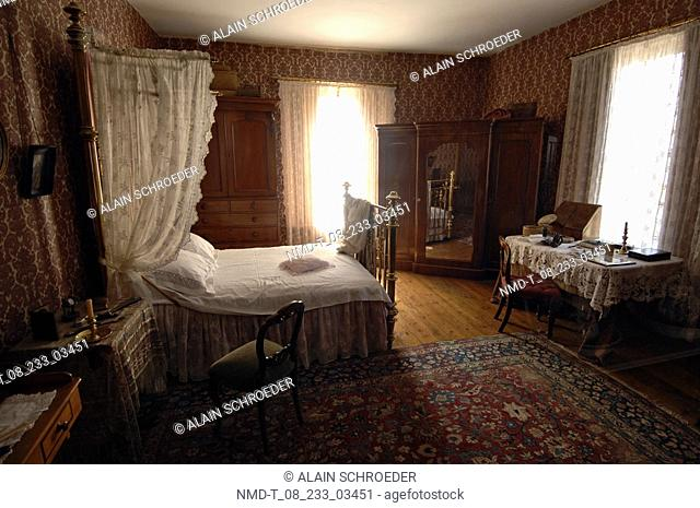 Interiors of a bedroom, O M Bergh House, Dorp Museum, Stellenbosch, Western Cape Province, South Africa