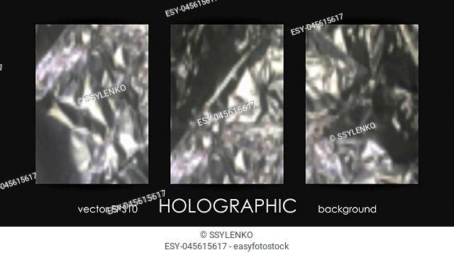 Set of Trendy Holographic Backgrounds for Cover, Flyer, Brochure, Poster, Wedding Invitation, Wallpaper, Backdrop, Business Design