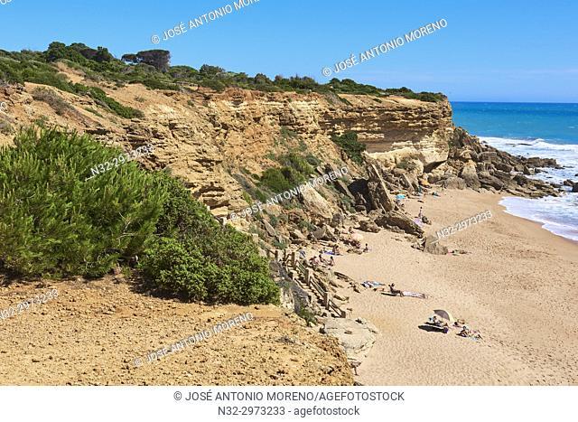 Conil de la Frontera. Calas de Roche, Roche Cape, Costa de la Luz. White Town, Cadiz Province. Andalucia. Spain