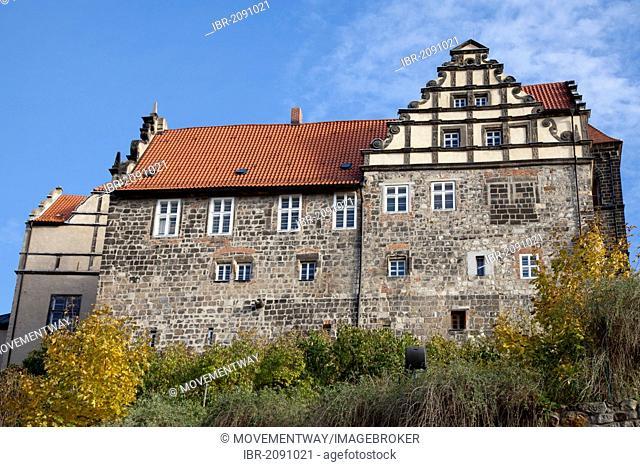 Castle on Schlossberg hill, Quedlinburg, UNESCO World Heritage Site, Harz area, Saxony-Anhalt, Germany, Europe