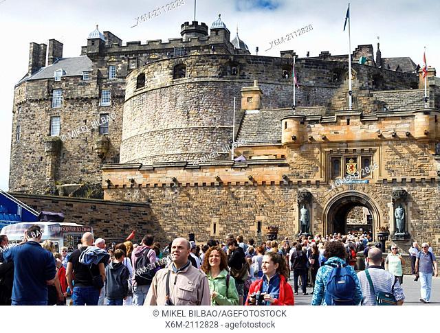 Edinburgh Castle. Scotland, UK, Europe