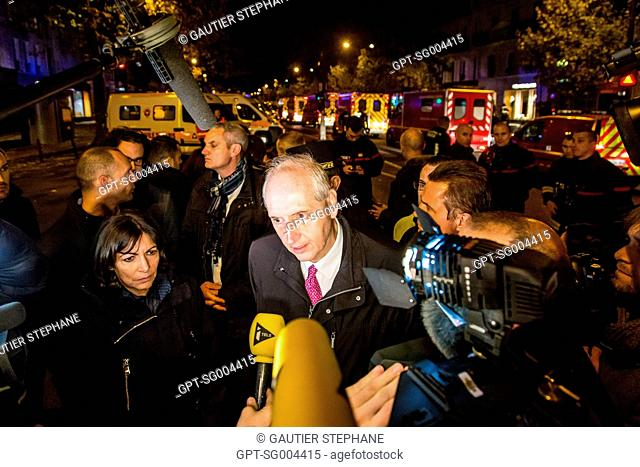PRESS CONFERENCE GIVEN BY MICHEL CADOT, PREFECT OF THE PARIS POLICE, AND ANNE HIDALGO, MAYOR OF PARIS, NOVEMBER 13, 2015 TERRORIST ATTACK