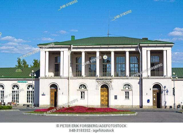 Tsarskoye Selo Railway station, Pushkin, Pushkinsky district, near Saint Petersburg, Russia