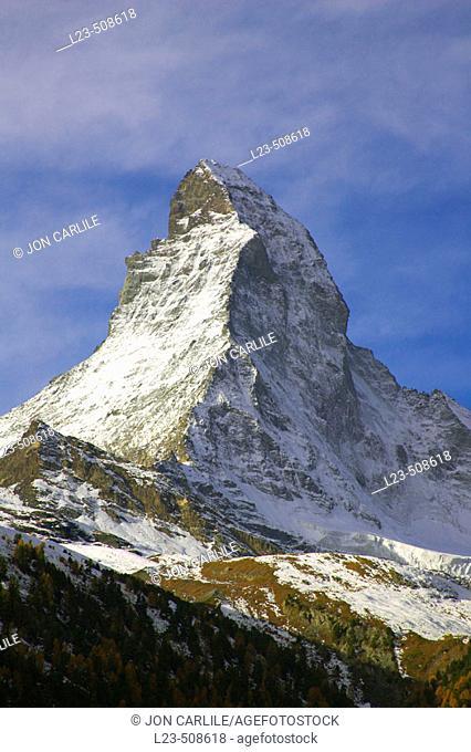 Matterhorn above Zermatt, Switzerland