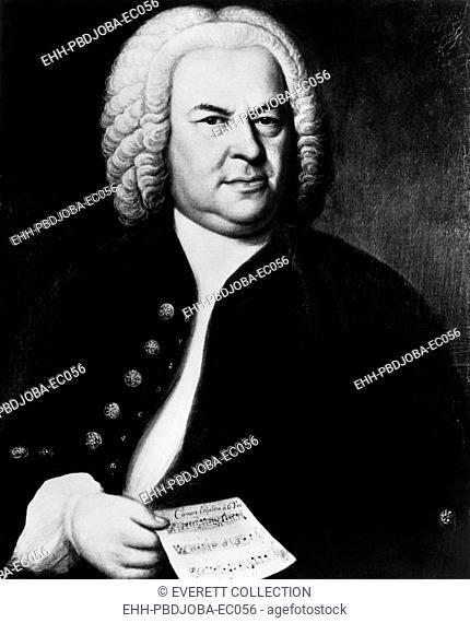 Johann Sebastian Bach (1685-1750), German composer, portrait by Elias Gottlieb Haussmann, circa 1746
