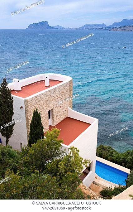 Villa located in the mountains, by the sea, in Moraia, Teulada, Costa Blanca, Alicante, Valencia, Spain, Europe