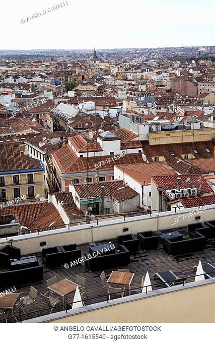 View from above, Madrid, Spain