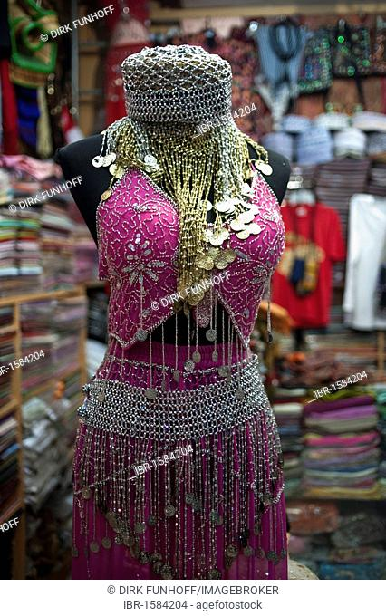 Ladies fashion in Muttrah souq, Oman, Middle East