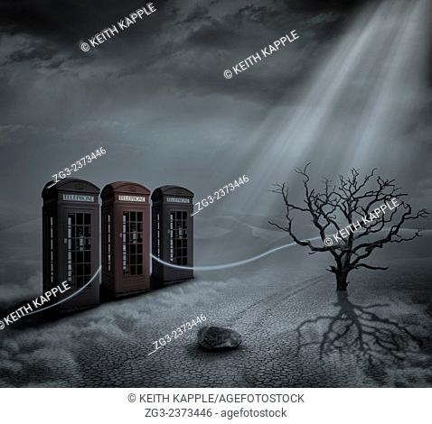 Forms of communication, A photo Surrealism illustration