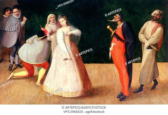 Franken the Elder - . Italian actors, the Gelosis, with Isabelle Andreini in Paris - . 16th century - . Paris musée Carnavalet