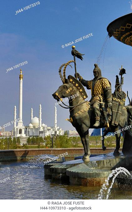 Administrative City, Astana, building, City, Hazret Sultan, Kazakhstan, Central Asia, Monument, Mosque, National Gallery, New, Summer, architecture, entrance
