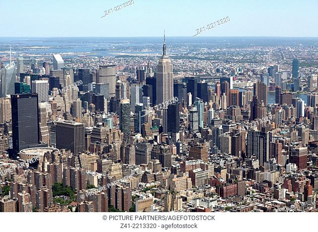 Aerial view of Manhattan, New York City