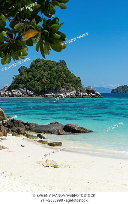 White sand of Sunrise beach and Andaman sea, Ko Lipe, Thailand