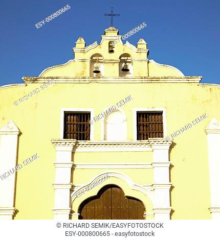 detail of San Juan Bautista de Remedios''s Church, Parque Martí, Remedios, Cuba