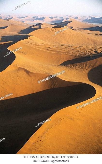 Sand dunes, Namib-Naukluft National Park, Namib desert. Namibia