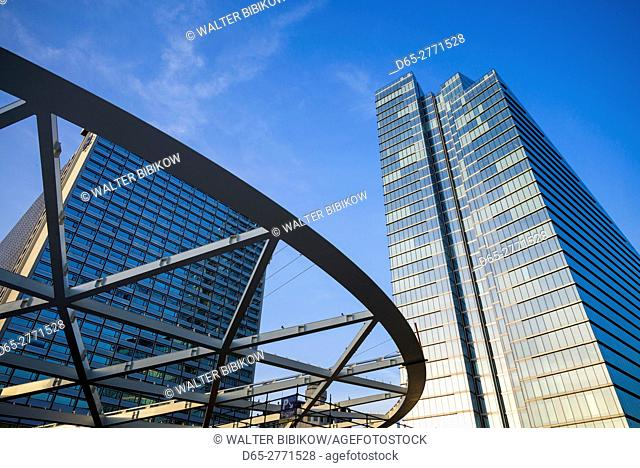 Belgium, Brussels, Place Rogier, central business district, modern office tower